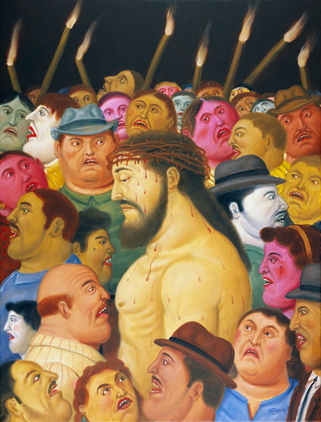 Botero_jesus_and_the_crowd